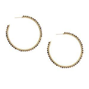 de48b6259 Kendra Scott Jewelry - Kendra Scott Birdie Hoops Earring Brown Tigers Eye